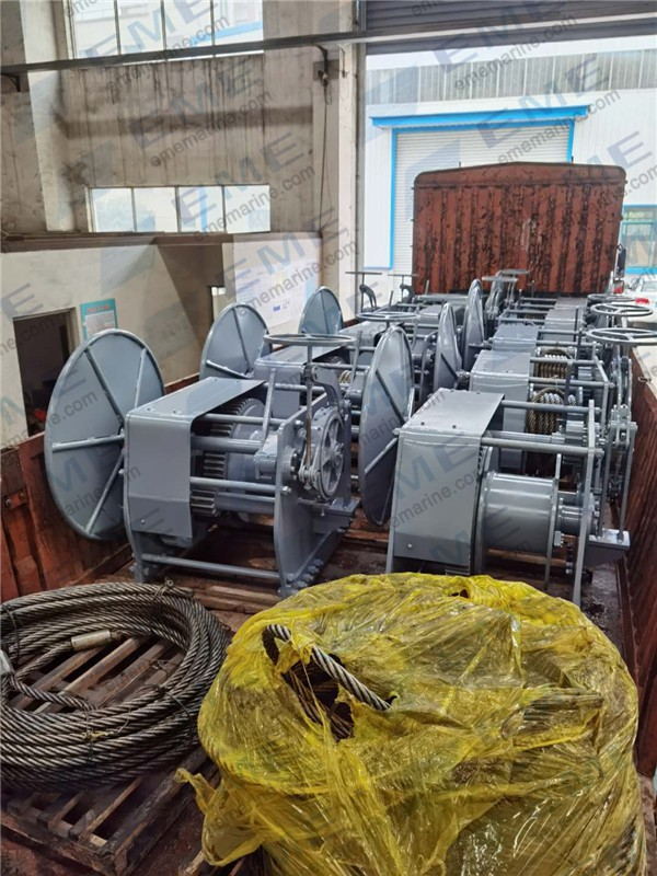 Ten sets of 7.5T manual winch have been delivered to China Merchants JinLing Shipyard (Nanjing) Co., Ltd