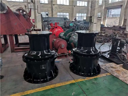 Two sets of 10T hydraulic capstan are syccessfully delivered to Huanghai Shipyard.