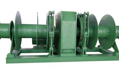 30T electric double drum mooring winch